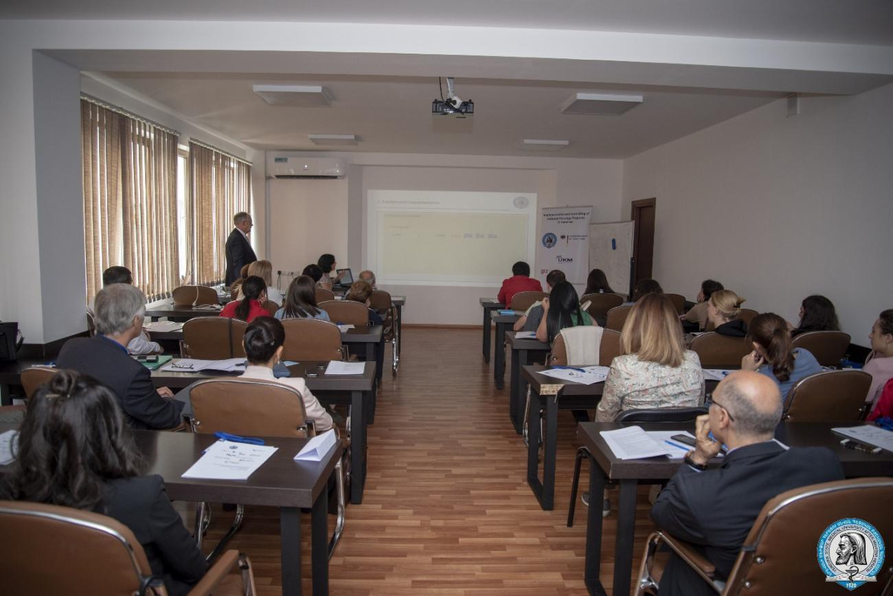 Գերմանացի պրոֆեսորները ԵՊԲՀ-ում դասախոսեցին ուռուցքաբանության ազգային ծրագրերի իրականացման և կառավարման մասին