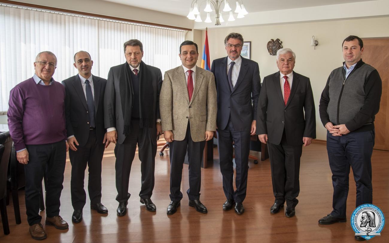ԵՊԲՀ ռեկտորն ընդունել է շվեյցարացի և ռուս գործընկերներին
